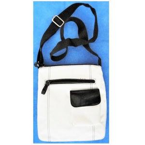 Bag Crossbody White Black Accents